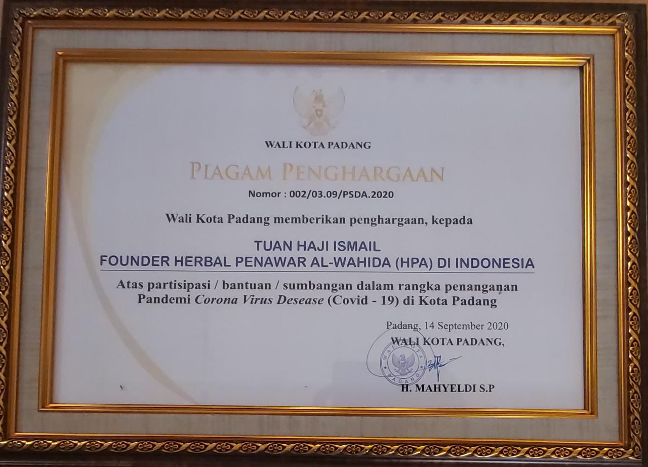 Penghargaan Pemkot Padang untuk HPA